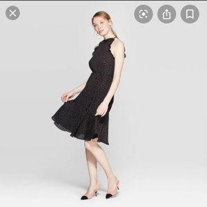 Polkadot Halter Midi Dress